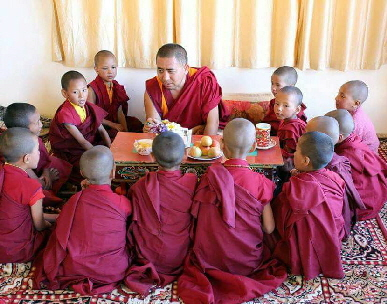 Principal with young monks